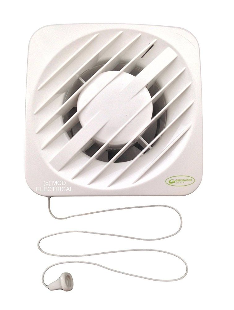 "Greenwood AXSK 6"" Single Speed Extractor Fan with Pull Cord"